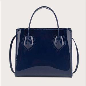 Handbags - Double Handle Patent Satchel Bag